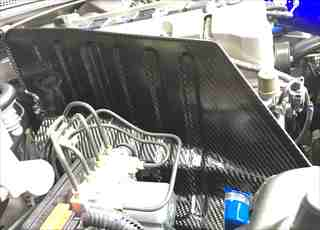 S2000ドライカーボン遮熱板